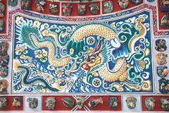 Chinese dragon stucco at Bang pa-in Palace, Ayutthaya, Thailand - stock photo