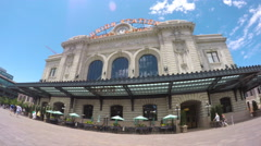 Plaza at front of the Union Station. Stock Footage