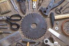 Tools background Stock Photos