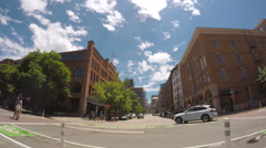 View of the Coors Field while driving. Stock Footage