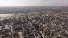 The loire river in Orleans, in France shooted with a drone  Stock Footage