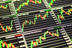 Financial background. Financial concept background. Forex board, trading - stock photo