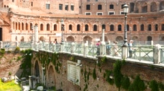 Ancient landmarks in Rome - stock footage
