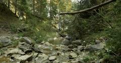 4K, Kvacianska Dolina Waterfall, Slovakia, Free Pan - stock footage