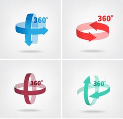 Angle 360 degrees sign icon Stock Illustration