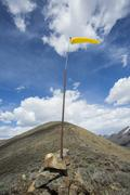 Wind sock on remote hilltop Stock Photos