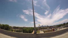 Driving on the HWY around downtown Denver. Stock Footage