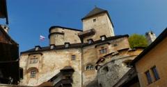 4K, Oravsky Hrad, Slovakian Castle Stock Footage