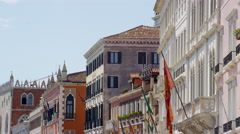 Historic buildings in Venice Italy in UHD Stock Footage