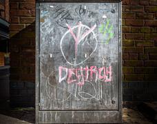 Street Cabinet Graffiti Stock Photos