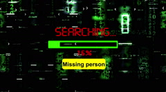 Searching for missing person Stock Footage