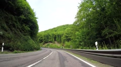 On-board-camera P.O.V. - Driving on a mountain road in Germany (EIFEL) Stock Footage