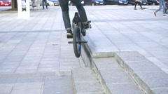 Cyclists Doing Tricks Stock Footage