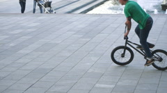 Cyclist Falls Stock Footage