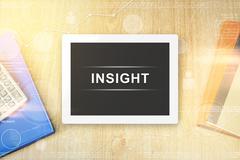 Insight word on tablet Stock Illustration
