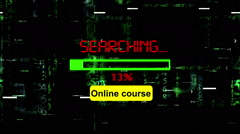 Searching for online course Stock Footage