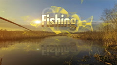 Fishing intro ultra HD Stock Footage