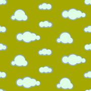 Night sky clouds seamless vector pattern Stock Illustration