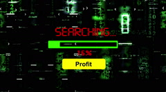 Searching for profit Stock Footage