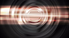 Abstract glowing glossy circles and shiny stripes Stock Footage