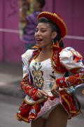 ARICA, CHILE - JANUARY 24, 2016: Caporales Dancer at the Carnaval Andino. Stock Photos