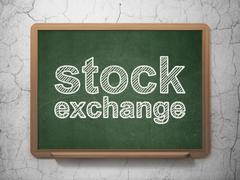 Business concept: Stock Exchange on chalkboard background Stock Illustration
