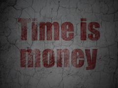 Business concept: Time is Money on grunge wall background Stock Illustration