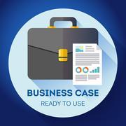 Idea - Ready to use Business case icon. Flat design style Stock Illustration