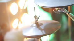 Musician plays drums Stock Footage