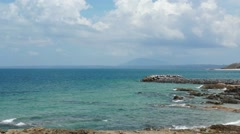 The Pacific Coastline At Mui Me, Vietnam - stock footage