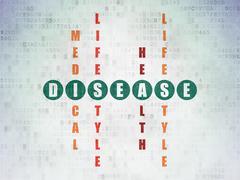 Medicine concept: Disease in Crossword Puzzle Stock Illustration