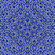 Seamless Texture on Blue. Ornamental Backdrop - stock illustration