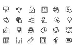 Communication Line Vector Icons Pack - stock illustration