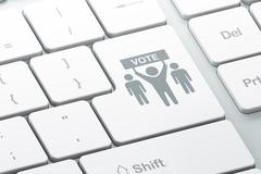 Politics concept: Election Campaign on computer keyboard background Stock Illustration