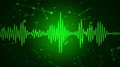 Audio sound waveform spectrum animation Stock Footage