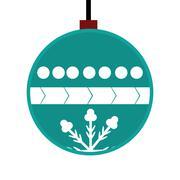 Christmas design. Decoration icon. Flat and isolated illustratio - stock illustration
