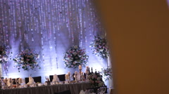 Scenery. Feathers, candles, flowers Stock Footage