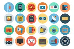 Multimedia Related Icons Pack - stock illustration