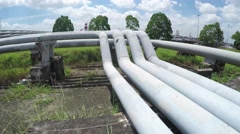 Pipelines At LNG Terminal - stock footage