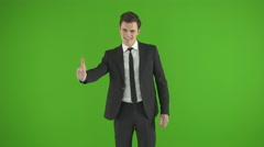 The businessman had the idea. Real time capture - stock footage