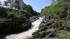 River North Esk near Edzell Angus Scotland Stock Footage