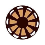film reel , Vector illustration over white background - stock illustration