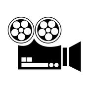 film projector , Vector illustration over white background - stock illustration