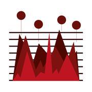 Statistics chart , Vector illustration Stock Illustration