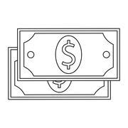 Dollar bill , Vector illustration Stock Illustration