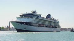 Cruising Ship in Venice Italy in UHD Stock Footage