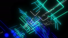 Disco glowing LED strokes Stock Footage