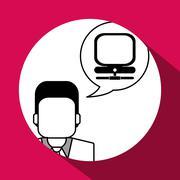 Communication design. Media icon. Flat illustration, vector grap Stock Illustration