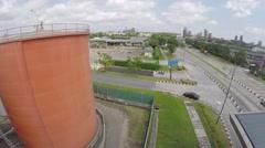 Liquid Fuel Industrial Zone Stock Footage