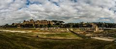 Palatine Hill in Rome, Italy - stock photo